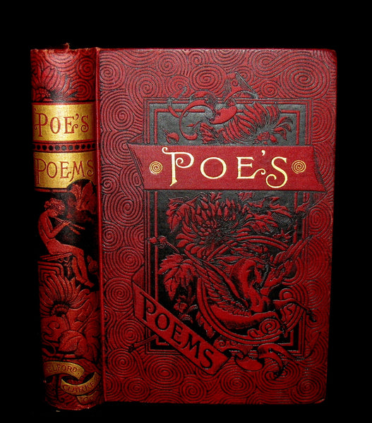 1887 Rare Book - The Complete Poetical Works Of EDGAR ALLAN POE.