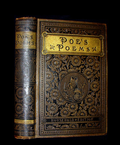 1886 Rare Book - The Complete Poetical Works Of EDGAR ALLAN POE.