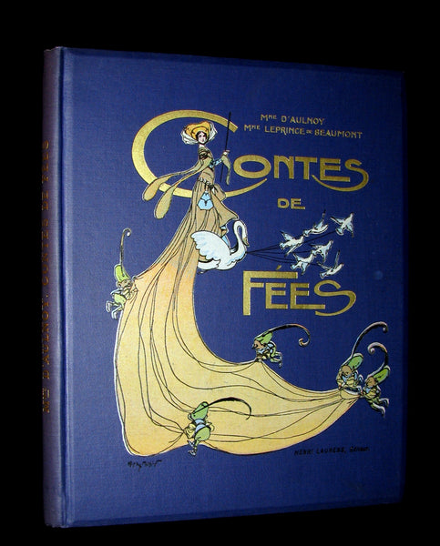 1900 Rare French Book - CONTES DE FÉES - Fairy Tales by The Countess d`Aulnoy and Ms Leprince de Beaumont.