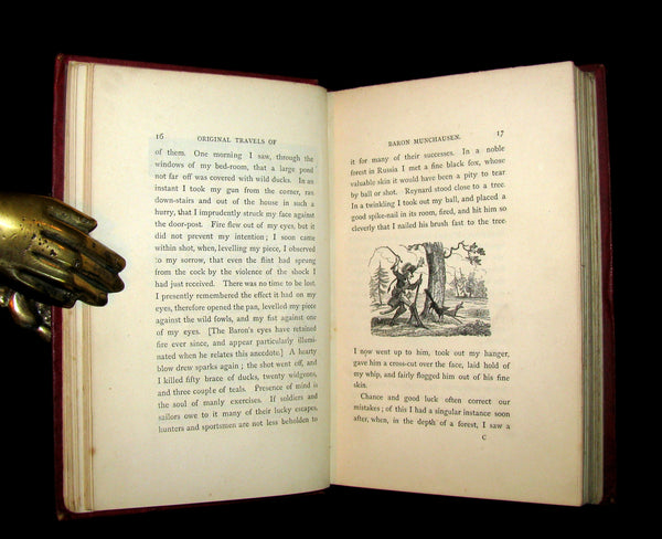 1868 Rare Book - The Travels and Surprising Adventures of Baron MUNCHAUSEN. Illustrated by Cruikshank.