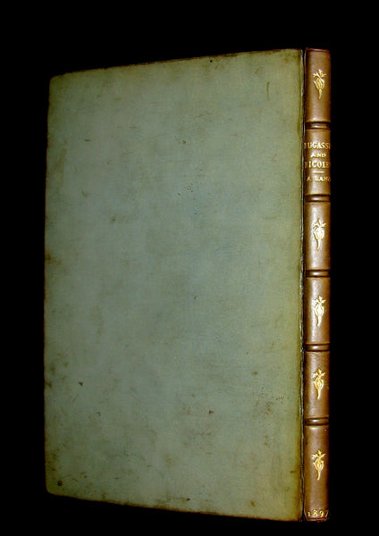 1897 Rare Book - MEDIEVAL HISTORY of Aucassin and Nicolette. Knighthood and Chivalry.