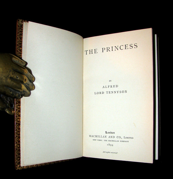 1899 Nice Bayntun Binding - The PRINCESS by Alfred Lord Tennyson.