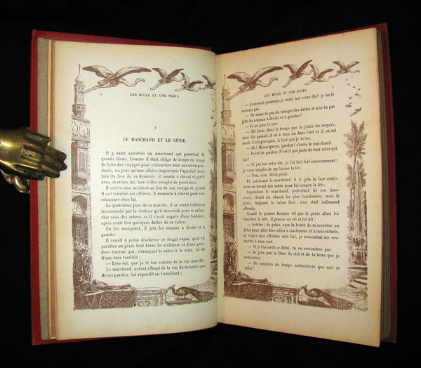 1900 Rare illustrated French Book ~ One Thousand and One Nights - Les Mille et une Nuits - Arabic Tales.