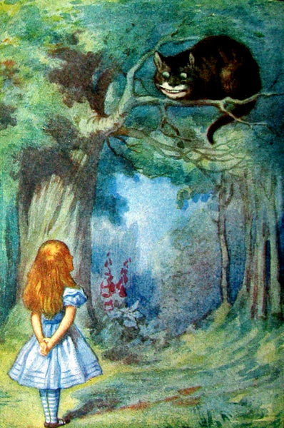 1911 Rare First color illustrated Edition - Alice's Adventures in Wonderland & Through the Looking-Glass.
