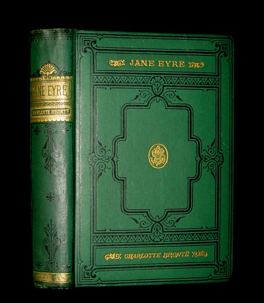 1886 Rare Victorian Book - JANE EYRE. An Autobiography by Currer Bell (CHARLOTTE BRONTË).