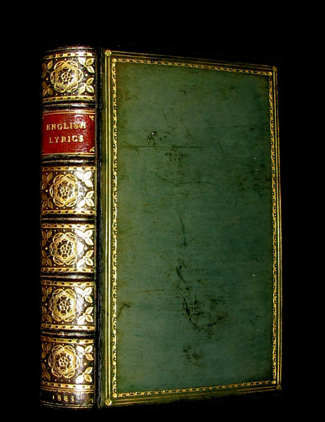 1883 Rare poetry Book - ENGLISH LYRICS beautifully bound by Sangorski & Sutcliffe.