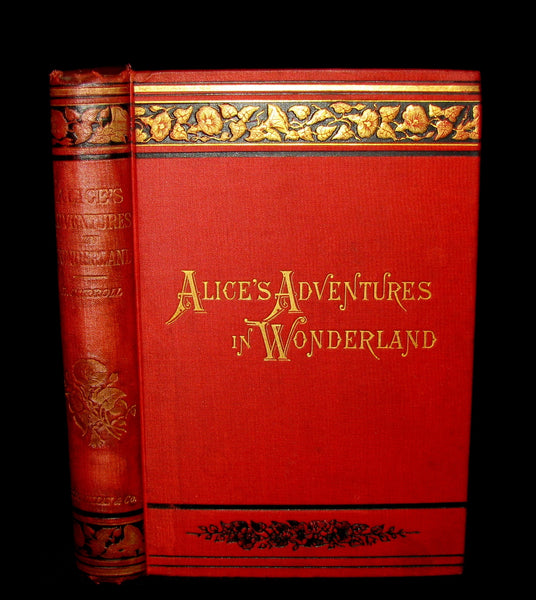 1882 Rare Victorian Book - Alice's Adventures in Wonderland by Lewis Carroll.