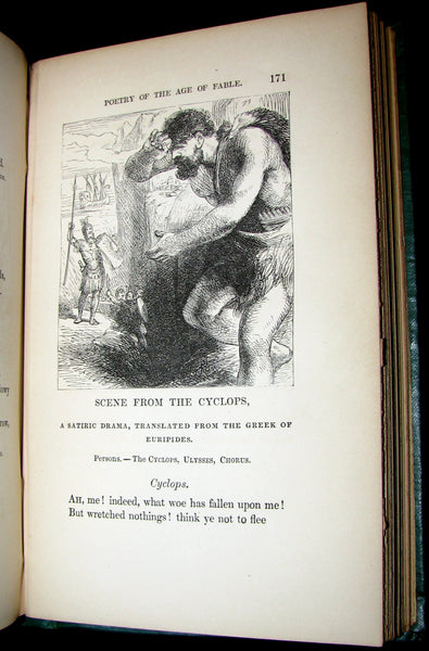 1863 Rare Book - Poetry of the AGE of FABLE - The Legends of Classical Mythology.