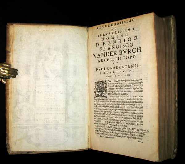 1630 Rare Latin Vellum Folio Book - Commentaries on the Pentateuch of Moses, By R. P. Cornelius a Lapide, Jesuit.