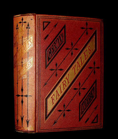 1872 Rare Book - Hans Christian Andersen - German FAIRY TALES illustrated.
