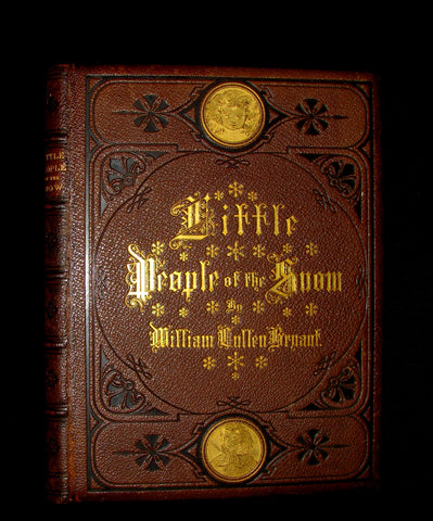 1873 Rare Romantic 1st Edition - The Little People of the Snow by William Cullen Bryant.