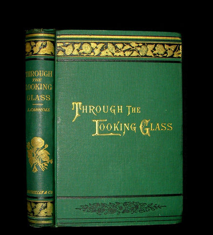 1889 Rare Book - Through the Looking-Glass, and What Alice Found There by Lewis Carroll.