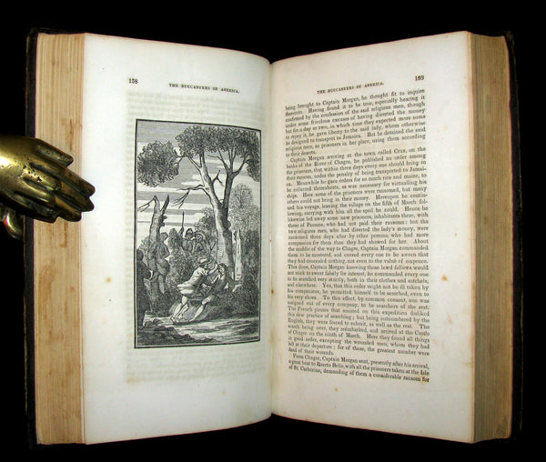 1853 Scarce Book - Pirates -The History Of The Buccaneers Of America. Illustrated & MAP.