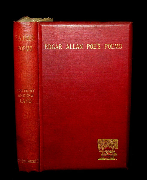 1885 Rare Book - The POEMS Of EDGAR ALLAN POE & An Essay on His Poetry by ANDREW LANG.