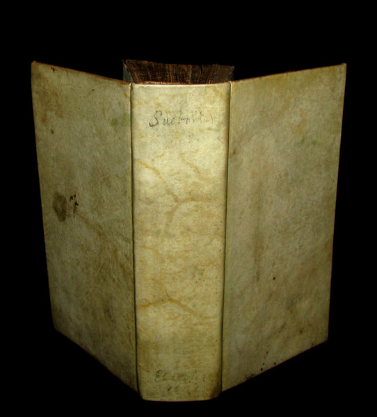 1671 Rare Latin Book - Lives of the Twelve Caesars & other notes by Suetonius - Cum Notationibus Diversorum.