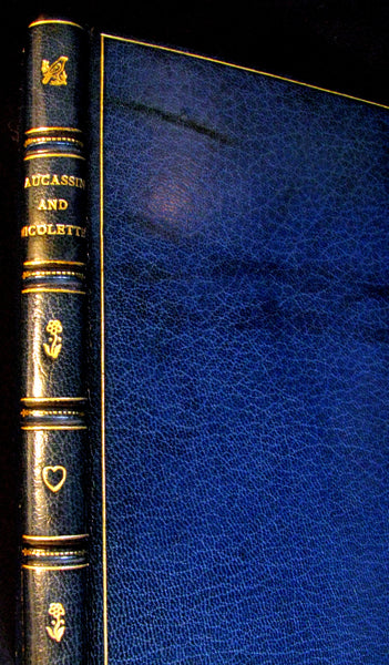 1897 Rare Book bound by Sangorski & Sutcliffe - MEDIEVAL HISTORY of Aucassin and Nicolette. Knighthood and Chivalry.