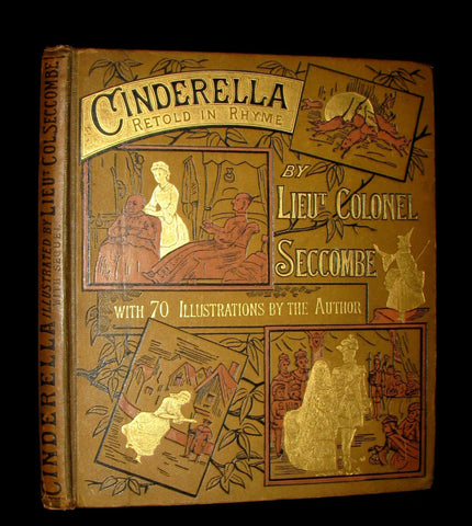 1882 Scarce Victorian Book ~ Cinderella by Seccombe bound with an original Typescript of What Happened After by Jane Stuart Wortley.