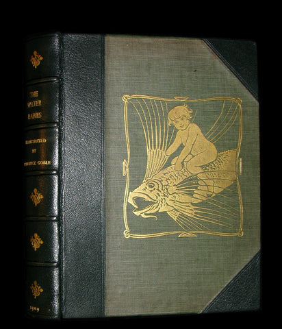 1909 Rare Book - Water-Babies Fairy Tale for a Land-Baby Illustrated by Warwick Goble. 1stED.