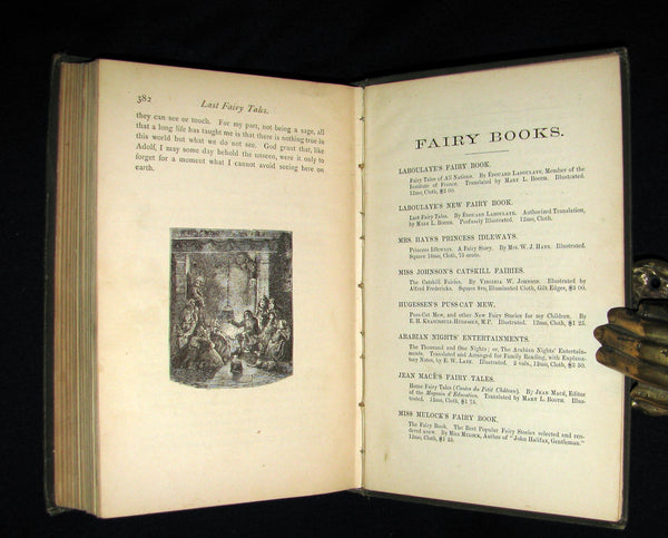1885 Rare Book - Edouard Laboulaye's LAST FAIRY TALES - illustrated First Edition.