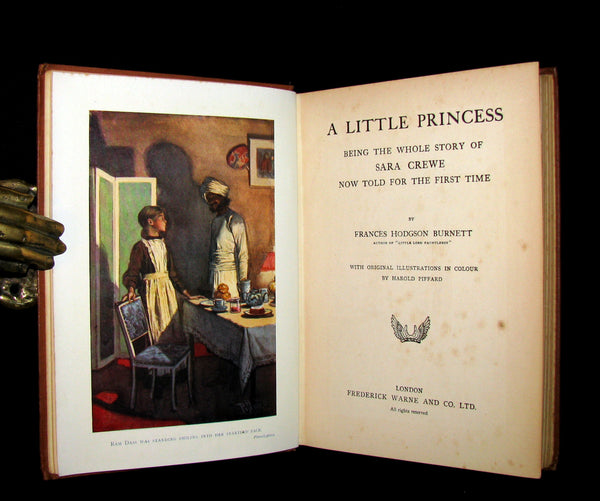 1905 Rare Book - A LITTLE PRINCESS by Frances Hodgson Burnett illustrated by Harold Piffard.