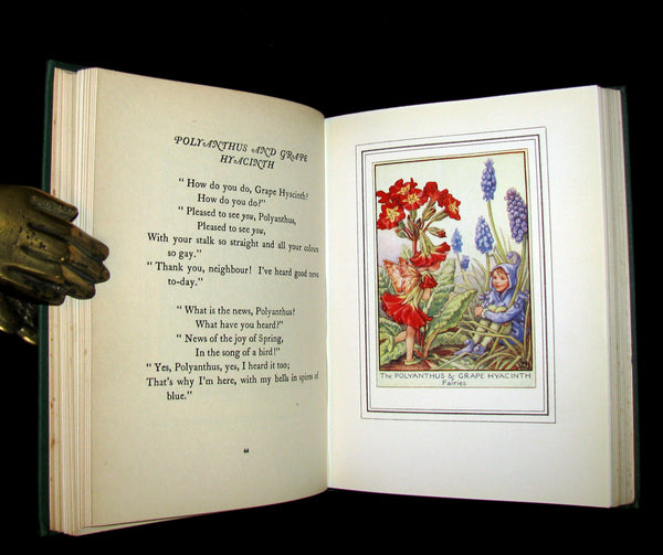 1950 Rare Cicely Mary Barker Book - FAIRIES OF THE FLOWERS AND TREES - 1stED.