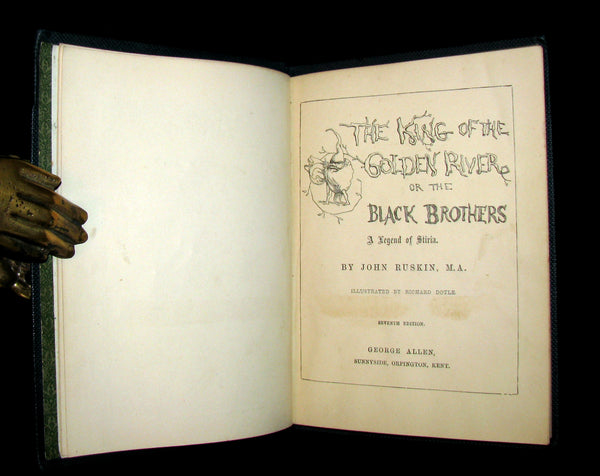1880 Rare Book -The King of the Golden River or the Black Brothers. A Legend of Stiria. Fairy Tale illustrated by Richard Doyle.
