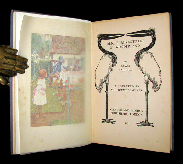 1907 Rare Book - Alice's Adventures in Wonderland beautifully Illustrated by Amy Millicent Sowerby. 1stED.