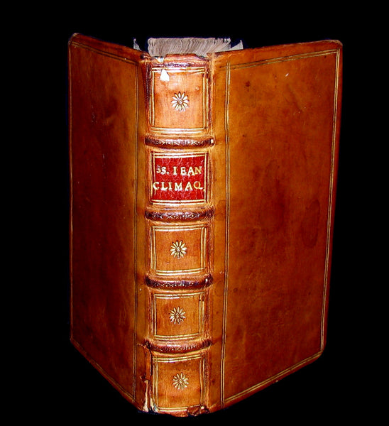 1652 Scarce French Book - John Climacus' Ladder of Paradise - Traite des degrez pour monter au ciel.