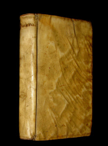 1650 Rare Latin Vellum Book -  The Satires of Decimus Junius Juvenalis, and of Aulus Persius Flaccus.