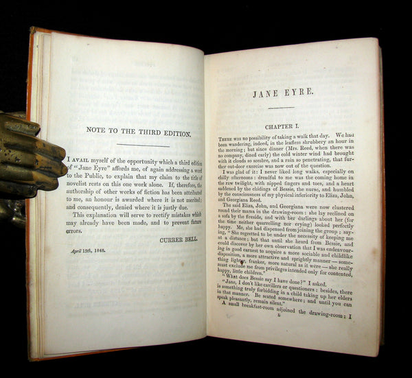 1857 Rare Early Edition - JANE EYRE. An Autobiography by Currer Bell (CHARLOTTE BRONTË).