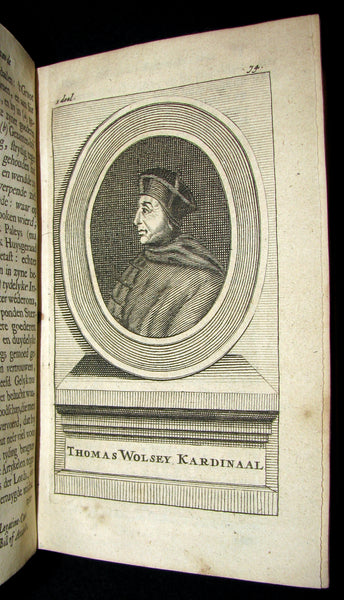 1690 Rare Dutch vellum Book - Gilbert Burnet's History of the Reformation of the Church of England. Illustrated.