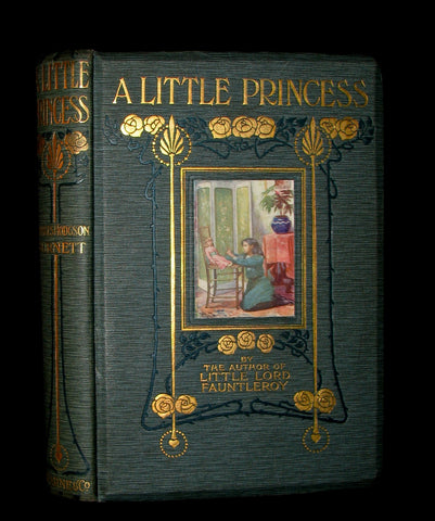 1905 Beautiful 1stED Book - A LITTLE PRINCESS by Frances Hodgson Burnett illustrated by Harold Piffard.