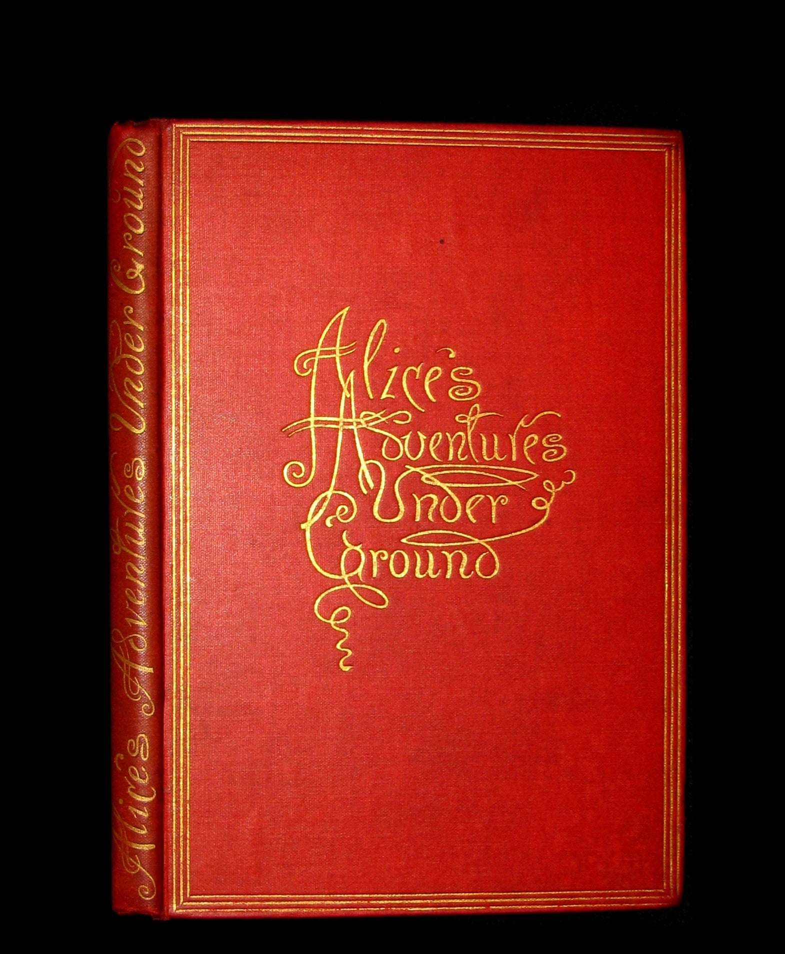1886 Rare 1st Edition - Alice's Adventures Under Ground illustrated by Lewis Carroll.