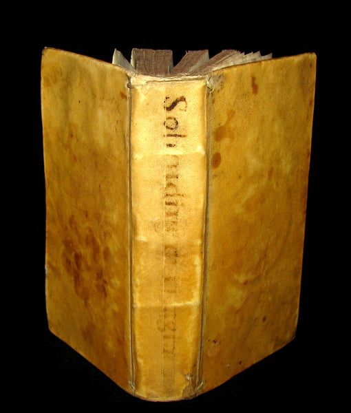 1678 Scarce Italian Vellum Book - Jesuit Paolo De Barry - Solitudine di Filagia - Solitude of Philagie.