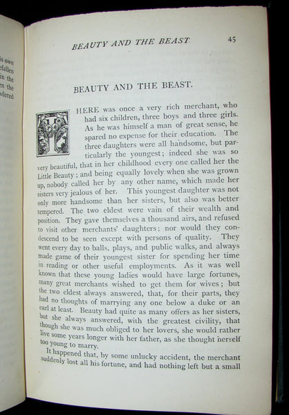 1886 Rare Victorian Book - The FAIRY BOOK by Dinah Craik. Beauty and the Beast, Snow-White, The Frog Prince, etc.