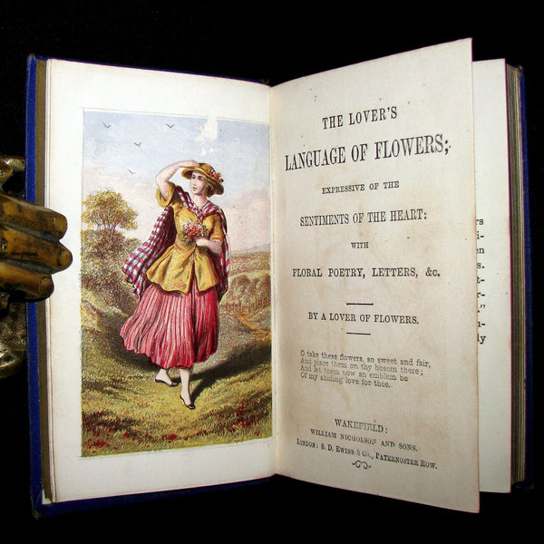 1870 Scarce Floriography Book ~ The Lover's LANGUAGE of FLOWERS Expressive of the Sentiments of the Heart.
