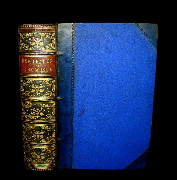 1879 Rare First Edition Book -  The Exploration of the World by JULES VERNE.