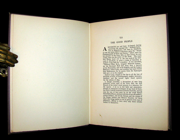 1933 Rare Book - The Secret Commonwealth of Elves, Fauns & Fairies by Robert Kirk. Publisher review copy.