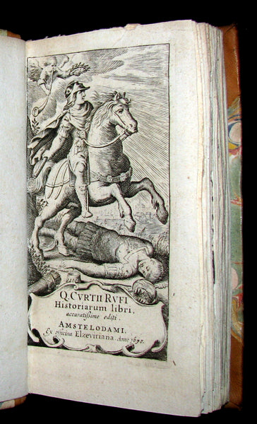 1670 Rare Latin Book - Histories of ALEXANDER the GREAT by Quintus Curtius Rufus.