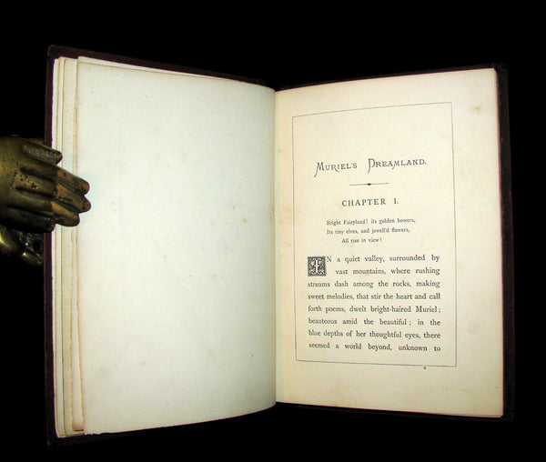 1871 Rare First Edition - MURIEL'S DREAMLAND: A Fairy Tale (Photographically illustrated).