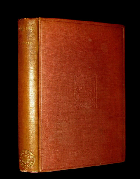 1905 Rare Book - WALDEN by Henry David Thoreau. With an introductory note by Will H. Dircks.