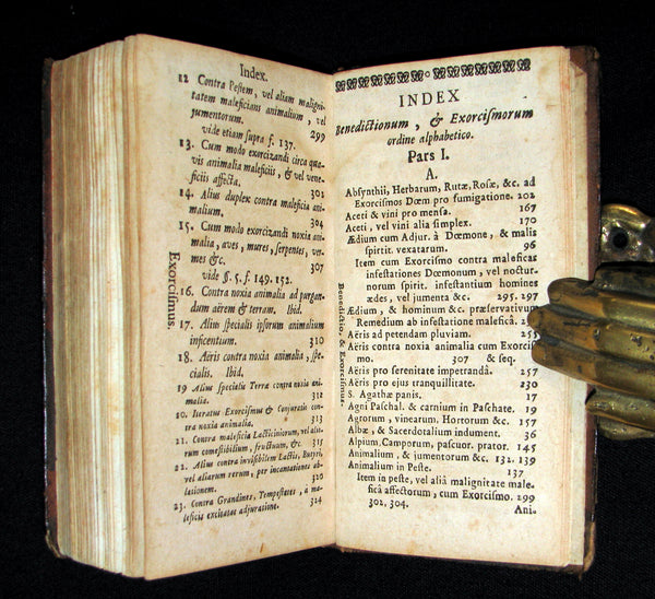 1729 Scarce Latin Book - EXORCISM & Benediction Manual - De EXORCISMIS contra MALEFICIA.
