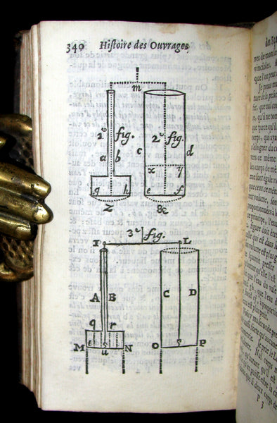 1688 Rare French Book - Scientists' Journal for year 1688 - Including graph of Terrestrial Gravity.
