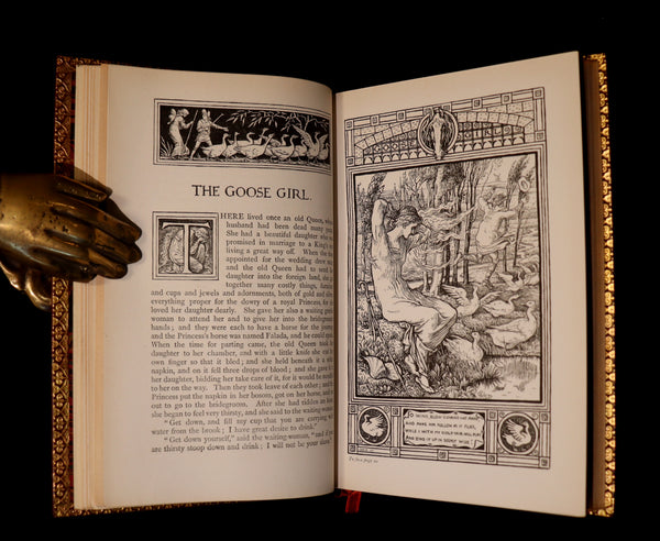 1882 First Edition bound by Bayntun - Brothers Grimm's FAIRY TALES illustrated by Walter Crane.