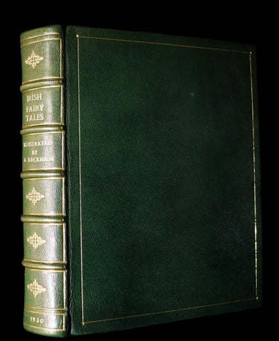 1920 1st Edition in Morocco Binding - IRISH FAIRY TALES by J. Stephens illustrated by Arthur Rackham.