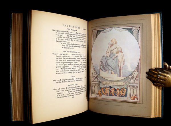 1911 First Illustrated Edition bound by ASPREY - The Blue Bird. A FAIRY Play in Six Acts illustrated by Frederic Cayley Robinson.