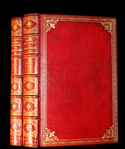 1884 Rare De La Fontaine Lusty Tales Book set beautifully bound by Sangorski & Sutcliffe illustrated by Eisen.