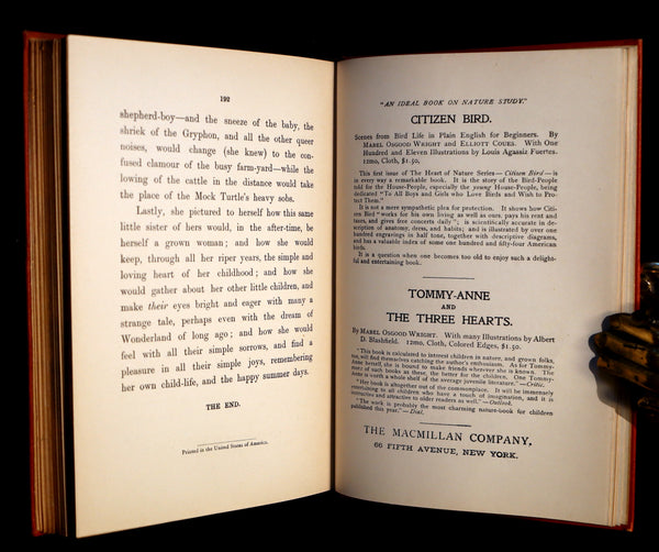 1915 Rare Book - ALICE'S ADVENTURES IN WONDERLAND by Lewis Carroll.