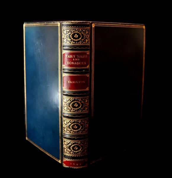 1849 Beautiful Zaehnsdorf Binding - FAIRY TALES and Romances by Count Anthony Hamilton.