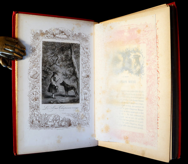 1890 Scarce illustrated French Book ~ Les Contes de Perrault - Fairy Tales published by Lefevre.